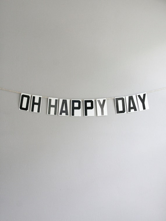 oh happy day / vintage modern bunting