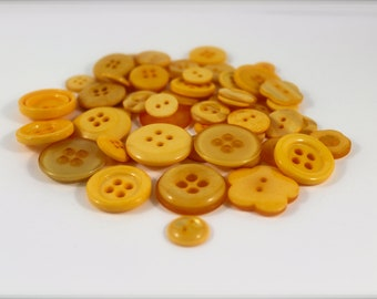 50 Marigold Buttons-Buy 3, Get 1 FREE