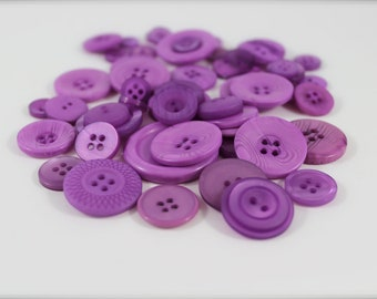 50 Wisteria Buttons-Buy 3, Get 1 FREE