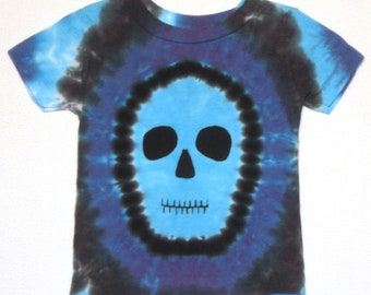 Blue Faced Zombie Tie Dye Shirt Size 12 month