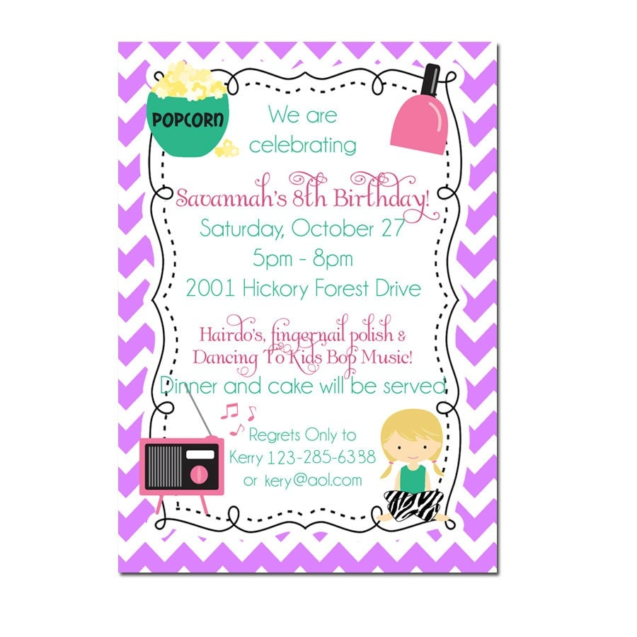 Pyjama Party Invite is best invitations template