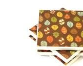 Coasters - Earthy Leaves - Set of 4 Ceramic Tile Coasters
