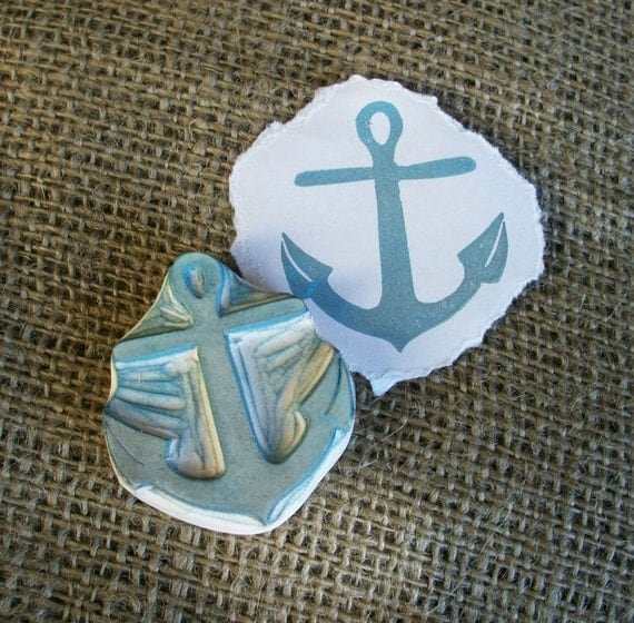 Anchor Rubber Stamp Hand Carved