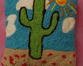 Cactus in the Sun Original Pillow