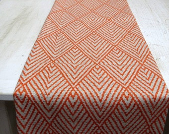IKAT Tablerunner 13x84 in TANGERINE