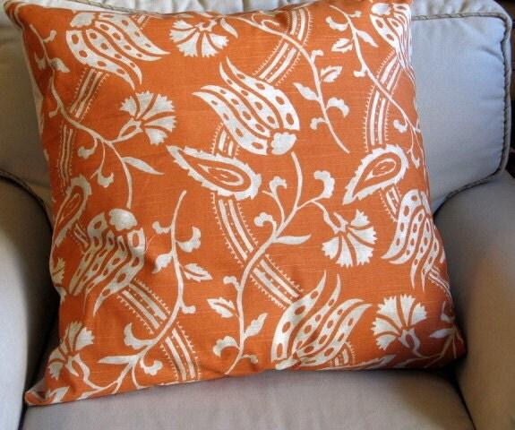 tangerine garden euro sham 26x26