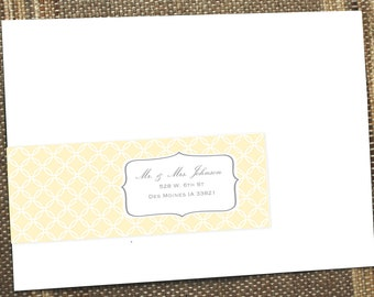 Wrap around address labels, address labels, address label, guest addressed address label, return address label, printable address label
