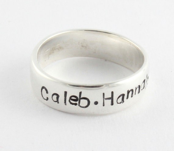 custom personalized sterling silver ring band size 5 size j