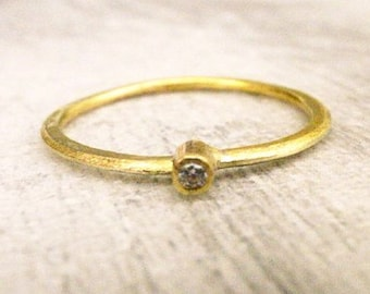 Stack Ring Solo -stone 1.5mm