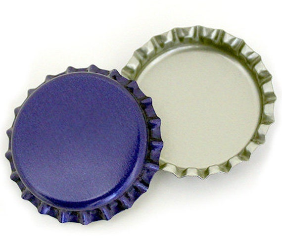 100 blue blank bottlecaps bottle cap bottlecap caps by