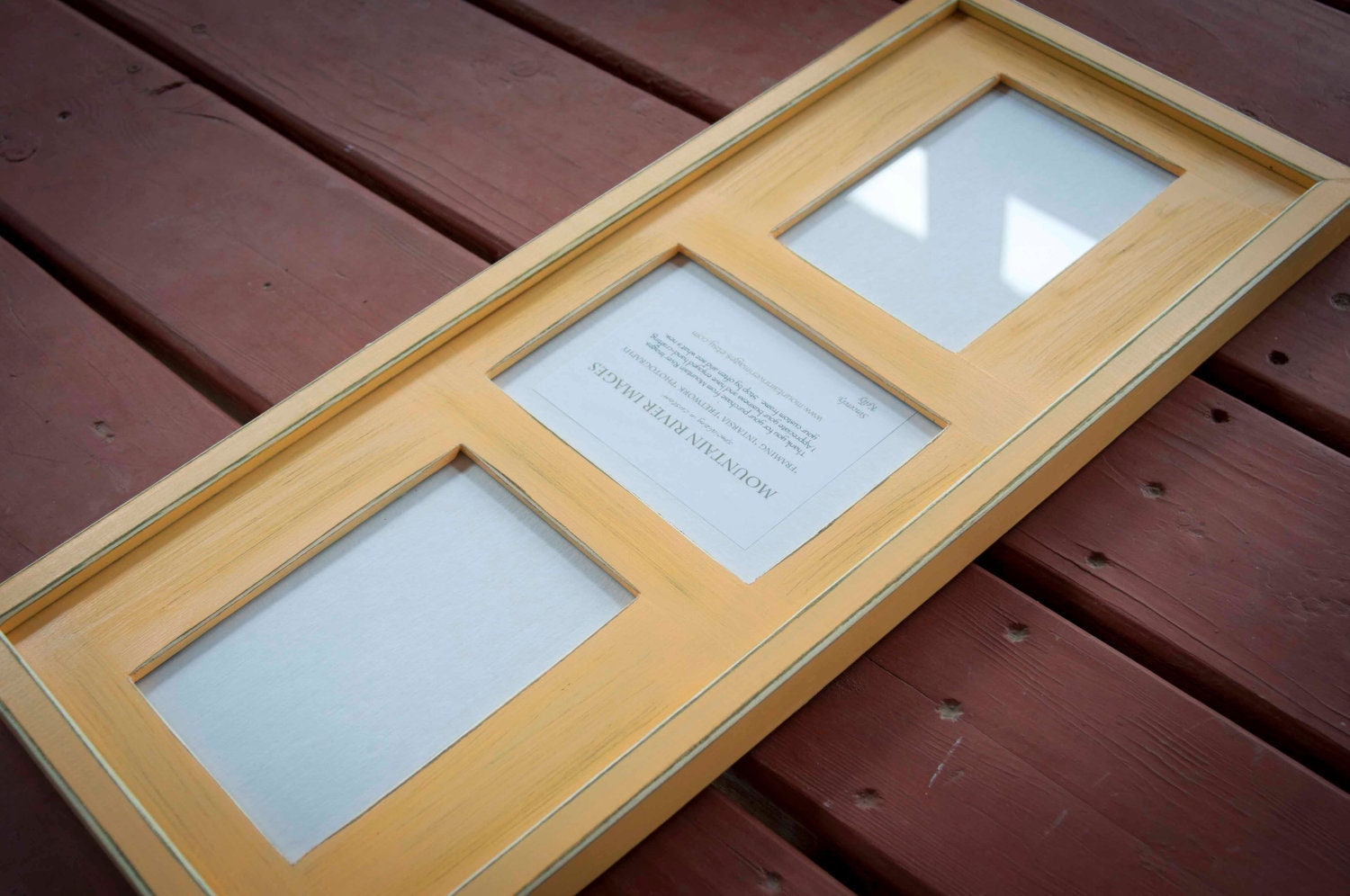 Ordinary 3 Opening Frame Part - 5: Collage Picture Frame - MULTI 3 Opening 5x7 Distressed Collage Picture Frame  With 2) 5x7u0027s In Landscape U0026 1) 5x7 In Portrait ...bauhaus Gold