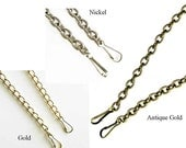 "Purse Chain - Nickel Antique Gold and Gold - 12"" 16"" 24"" 36"" 48"" - Ships from USA"