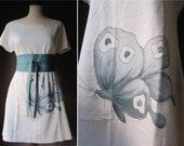 Dark Robin Egg Butterfly - OOAK Dress