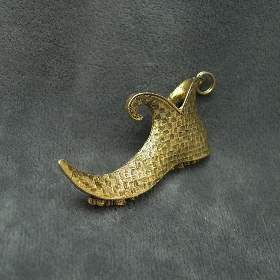 Vintage Slipper Pendant Charm Menger Smart Shops C4705