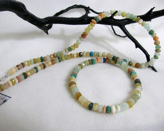 Mixed Gemstone Necklace 25 inches RKM382 RKMixablesSilver Collection