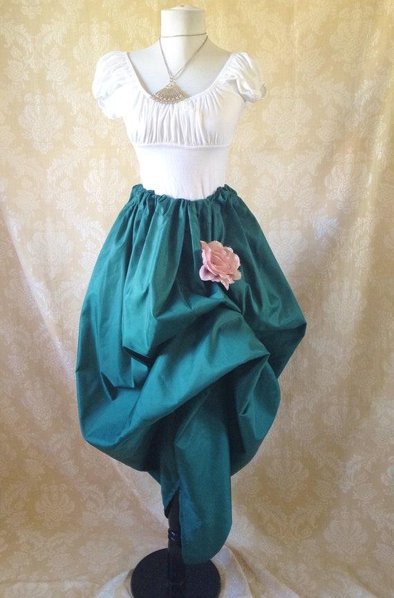 Guinevere Forest Green Full Length Skirt-One Size Fits All