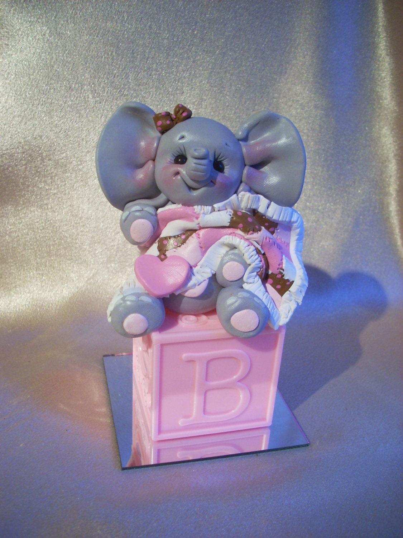 Plastic Baby Elephant Cake Topper