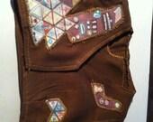 3 custom made brownie vests