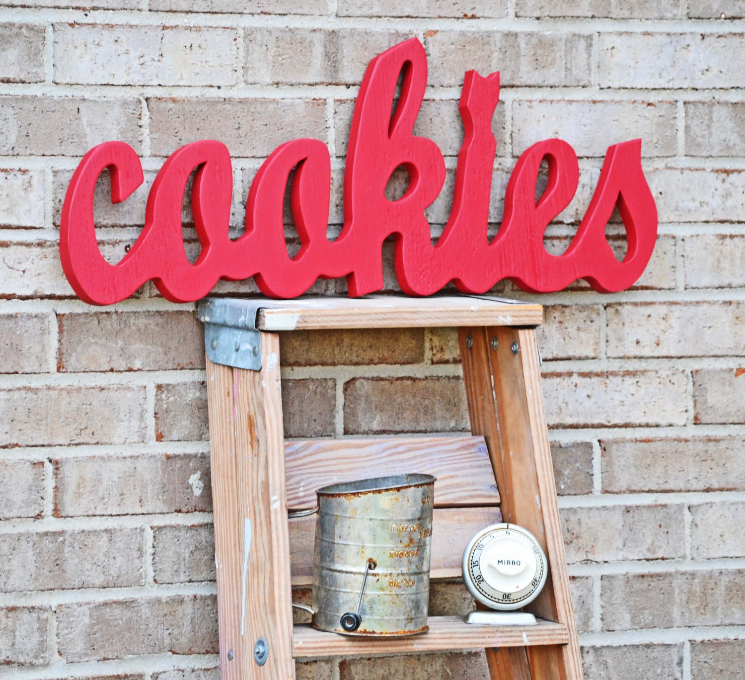 Red Kitchen Decor Sign