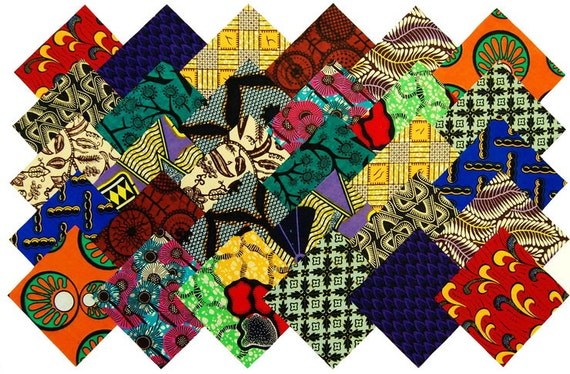 30 5 Fabric Squares African 15 Patterns Quilting Etsy