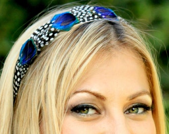 ANA- peacock feather headband