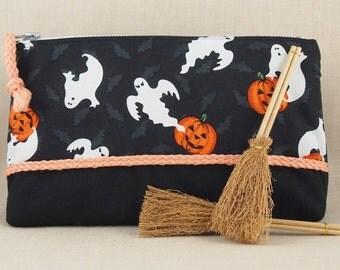 Halloween Zippered Pouch Clutch Ghost