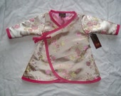 Pink - Cherry Blossom Dress - Long Sleeve Dress - Asian Baby Clothes - Baby Wrap - Dress Size Newborn to18M