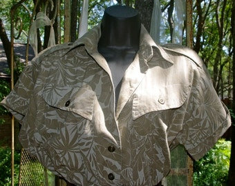 Call of the Wild 70's 80's Safari Dress 1970's early 1980's vintage jungle