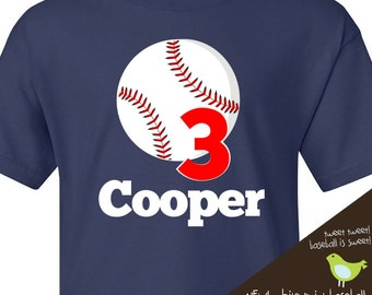 baseball birthday t shirt - or just a cute personalized baseball t shirt