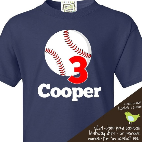 Baseball birthday t shirt or just a cute personalized for Baseball jersey t shirt custom