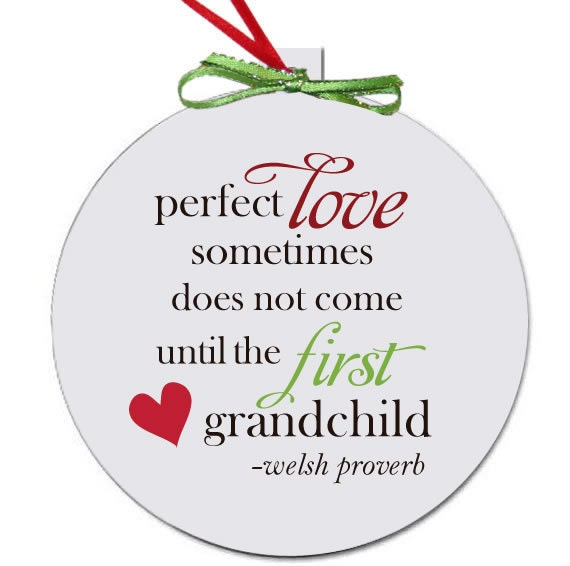 Grandparent Christmas ornament perfect first time Christmas