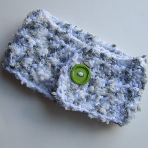 Gray and Lime Scarf, Neck Warmer, Crochet Scarf, Neck Wrap, Neck Wrap with Lime Green  Button, Girls Scarf, Toddlers Neckwarmer