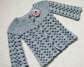 Instant download - Crochet Cardigan PATTERN (only pdf file) - Sweet Little Cardigan (sizes 0-6,6-12,1-2,3-4)