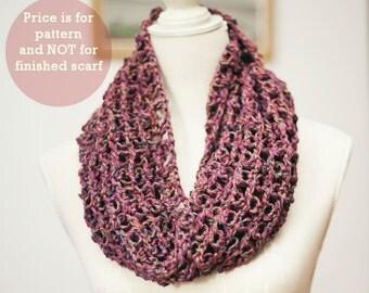 Scarf Crochet PATTERN  - Solomon's knot scarf