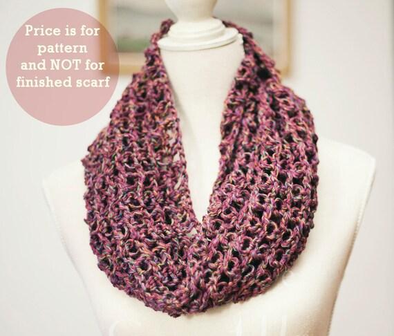 Instant download - Scarf Crochet PATTERN (pdf file) - Solomon's knot scarf
