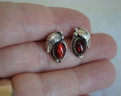 Small Vintage Silver and Shell Earrings