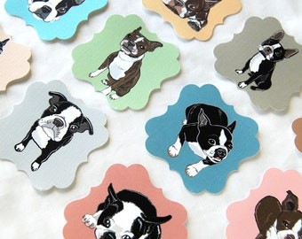 Boston Terrier Die Cut Collection - Eco-friendly Set of 12 - Scrapbooking Embellishment