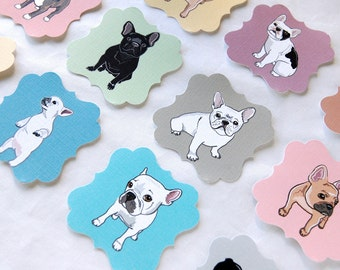 French Bulldog Die Cut Collection - Eco-friendly Set of 12 - Scrapbooking Embellishment