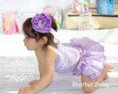 Lavender Purple Sassy Pants Ruffle Diaper Cover Bloomers