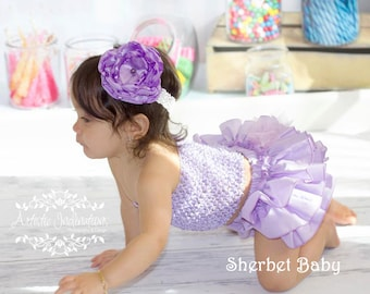 Lavender Classic Style Sassy Pants Ruffle Diaper Cover Bloomers