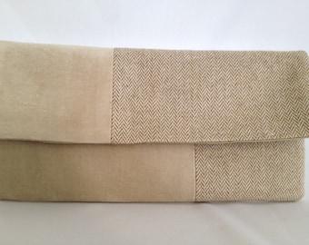 Color Block/Fabric Block Clutch