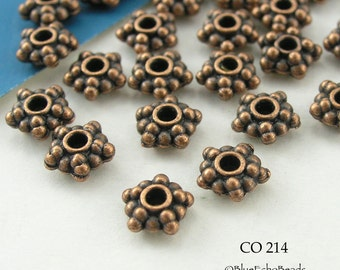 6mm Small Copper-Plated Star Spacer Beads (CO 214) 50 pcs BlueEchoBeads