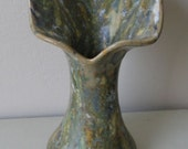 Spotted Vase Unique OOAK Yellow Brown Green