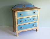 Vintage J.C. Penney Mary Lu Playthings Child's Doll Dresser with 3 Drawers