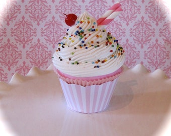 "Fake Cupcake ""Candy Land Cupcake Collection"" TOO CUTE 12 Legs Original Design and Concept Can Be Business Card Holder"