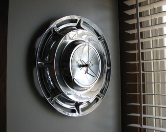 1960 Chevy Impala Hubcap Clock   no.2493
