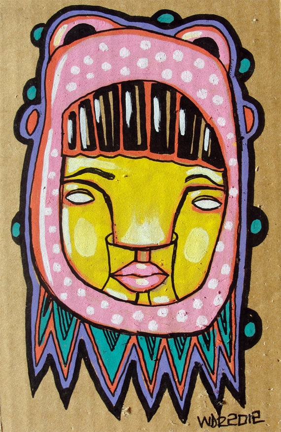 Matsi - Original Illustration on Cardboard