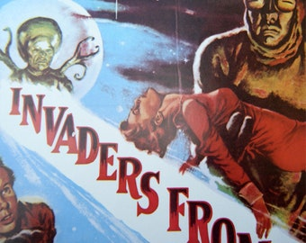 INVADERS FROM MARS  Vintage Sci-Fi Movie Poster Book Print 10 x 14 Horror Movie