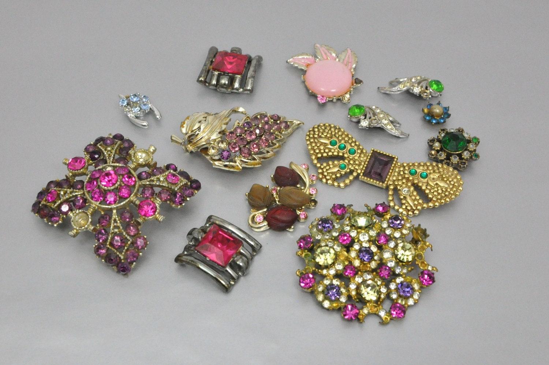 Rhinestone Jewelry Lot Vintage Jewelry Lot By