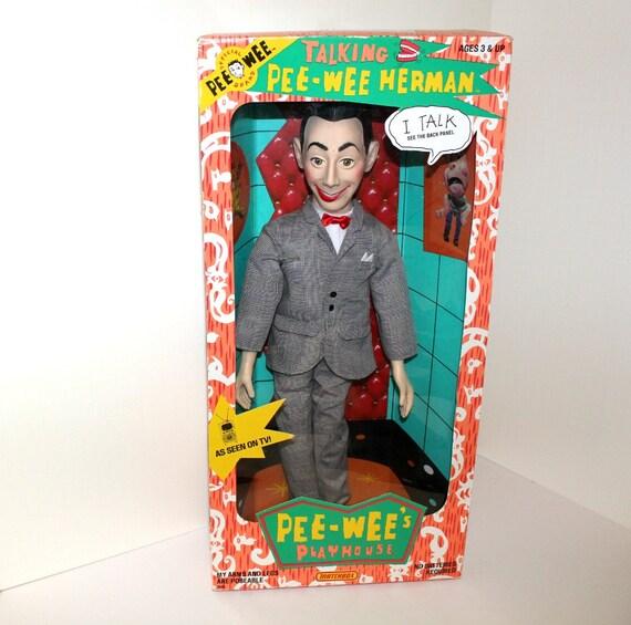 Vintage Talking Pee Wee Herman Doll MIB Playhouse 1987 Mint in Box